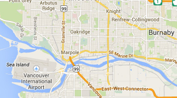 Map & Directions for Website Design Surrey BC